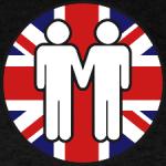 Gay guys w British flag