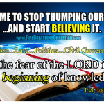 The Difference Between Thumping the Bible and Believing It