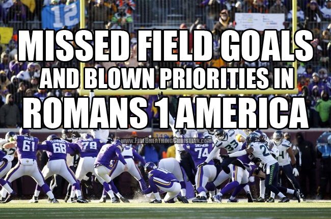 What a missed Vikings field goal tells us about the death of America.