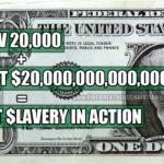 Dow 20,000 + Debt $20,000,000,000,000 = Fiat Slavery In Action
