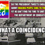 False Flags vs. Real Action: Could the President please stop tweeting long enough to shut down the Department of Education?